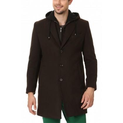 Пальто с капюшоном мужское mpip004